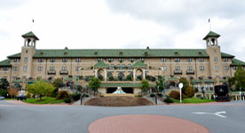 Exterior view of the front of The Hotel Hershey