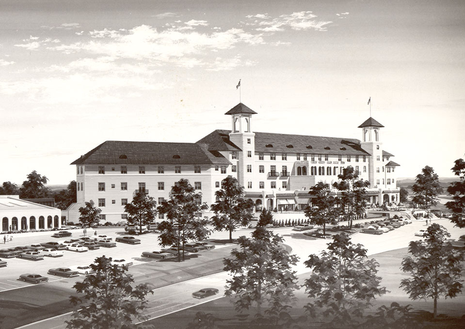 Historic rendering of The Hotel Hershey