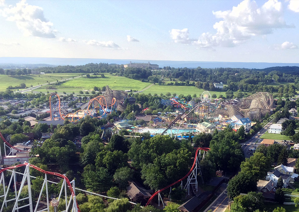 Arial view of Hersheypark