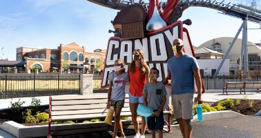 Family at Hershey's Chocolatetown
