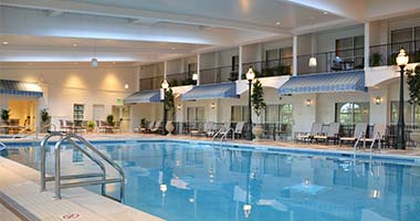 Indoor pool at The Hershey Hotel