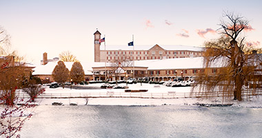 Hershey Lodge in the winter