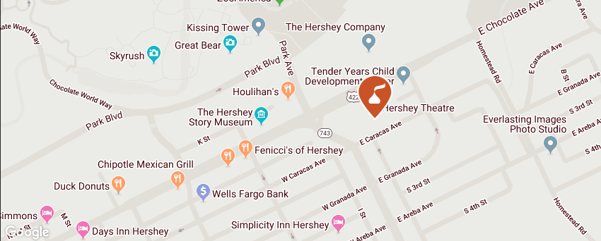 Hershey Theatre map