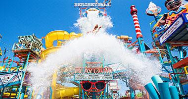 East Coast Water Works bucket splashing water down on guests
