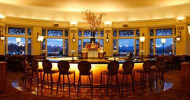 view of the bar at The Circular restaurant inside The Hotel Hershey