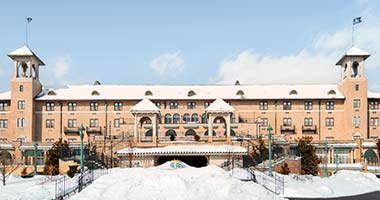 The Hotel Hershey in winter