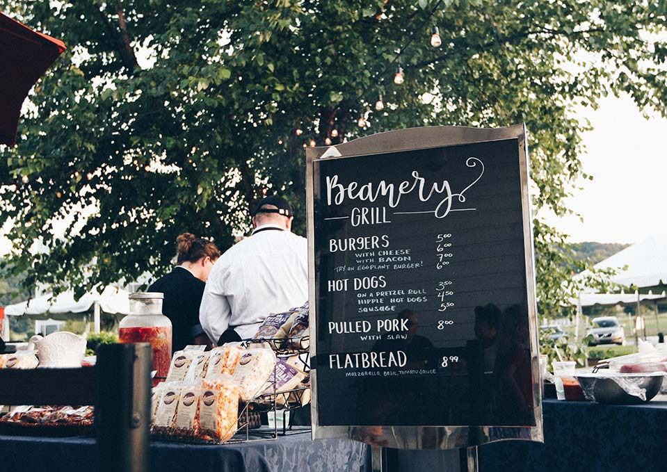 Handwritten burger menu