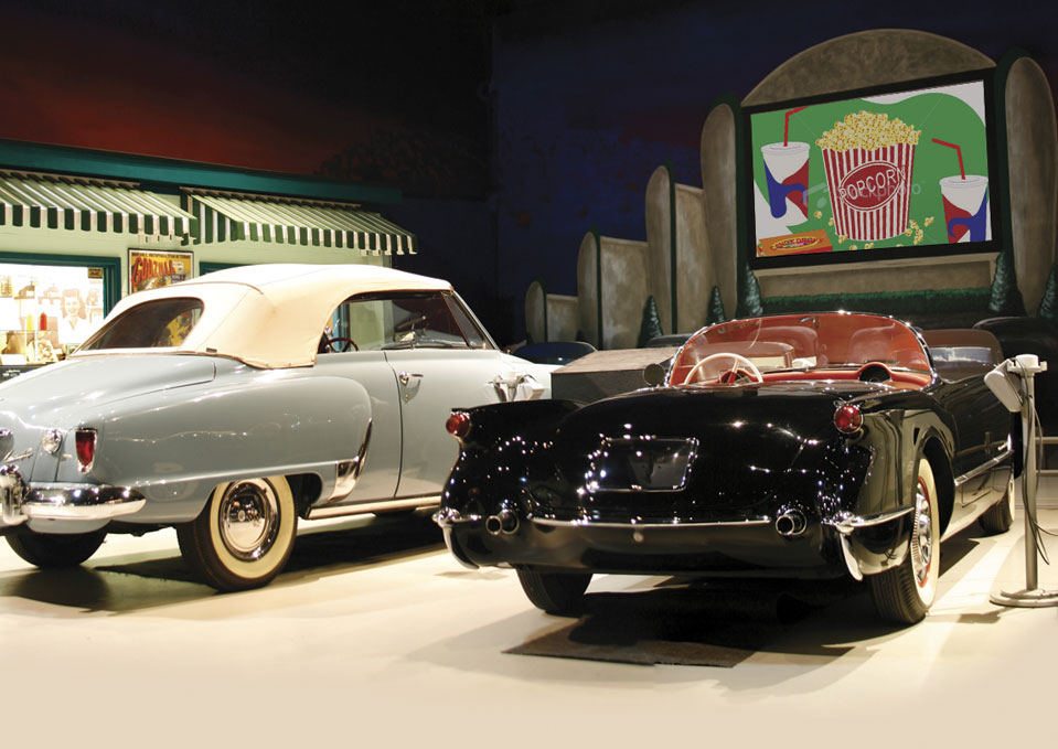Museum exhibit at Antique Automobile Club of America Museum
