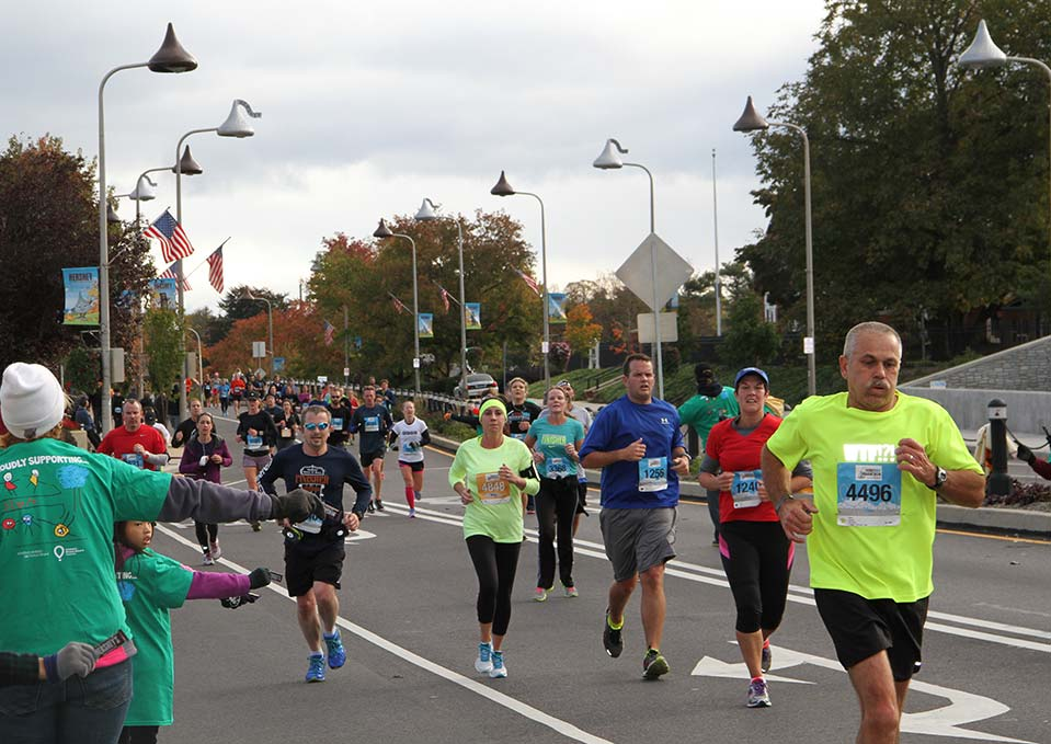 Woman running in the Hershey 10K