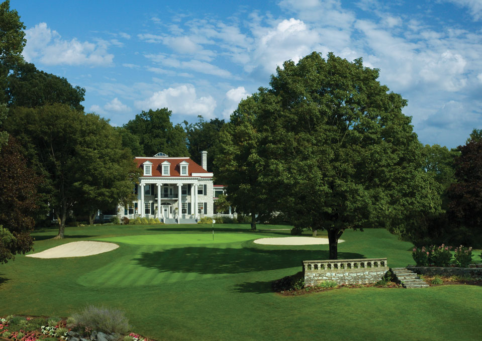 Hershey Country Club 5 West hole and mansion