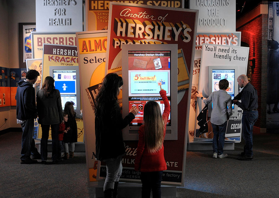Families at the Museum Experience at The Hershey Story