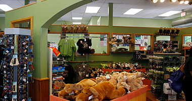 Interior view of The Gift Shop at ZooAmerica